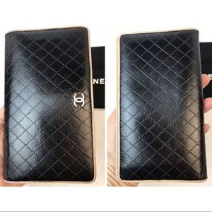 CHANEL Bags - CERTIFIED AUTH. CHANEL QUILTED CC LOGO LONG WALLET